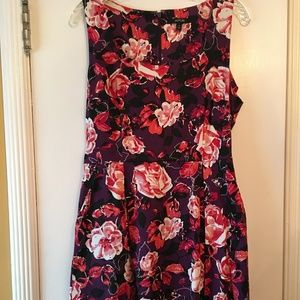 Pink and purple floral dress